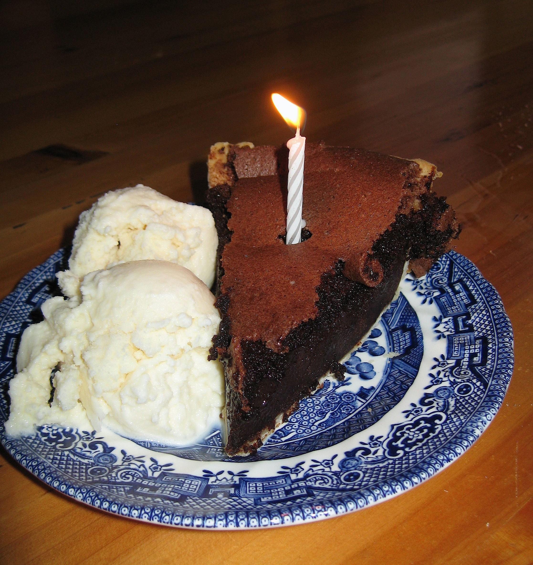 Brownie Truffle Pie and Homemade Ice Cream